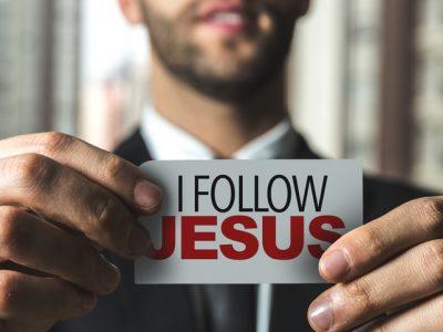 I Follow Jesus card sign